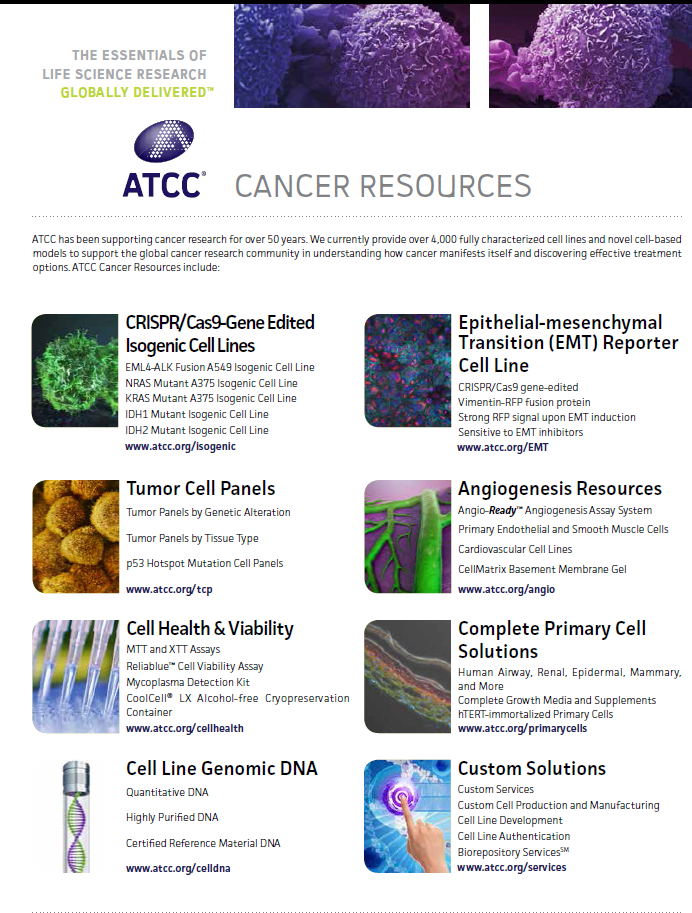 ATCC cancer resurces