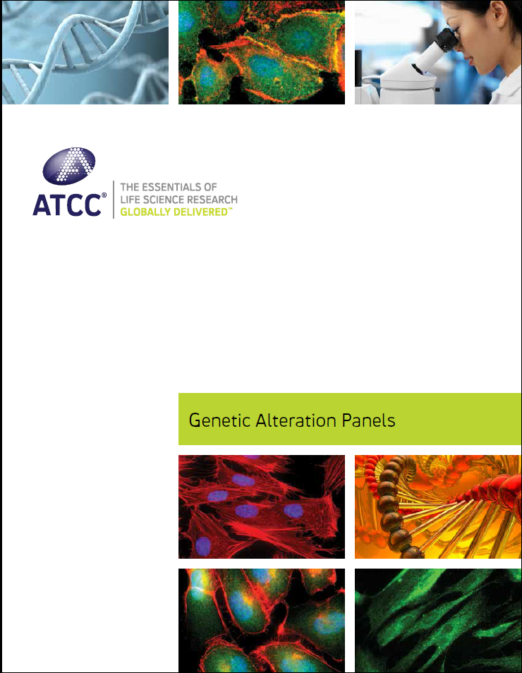 ATCC genetic alteration panels