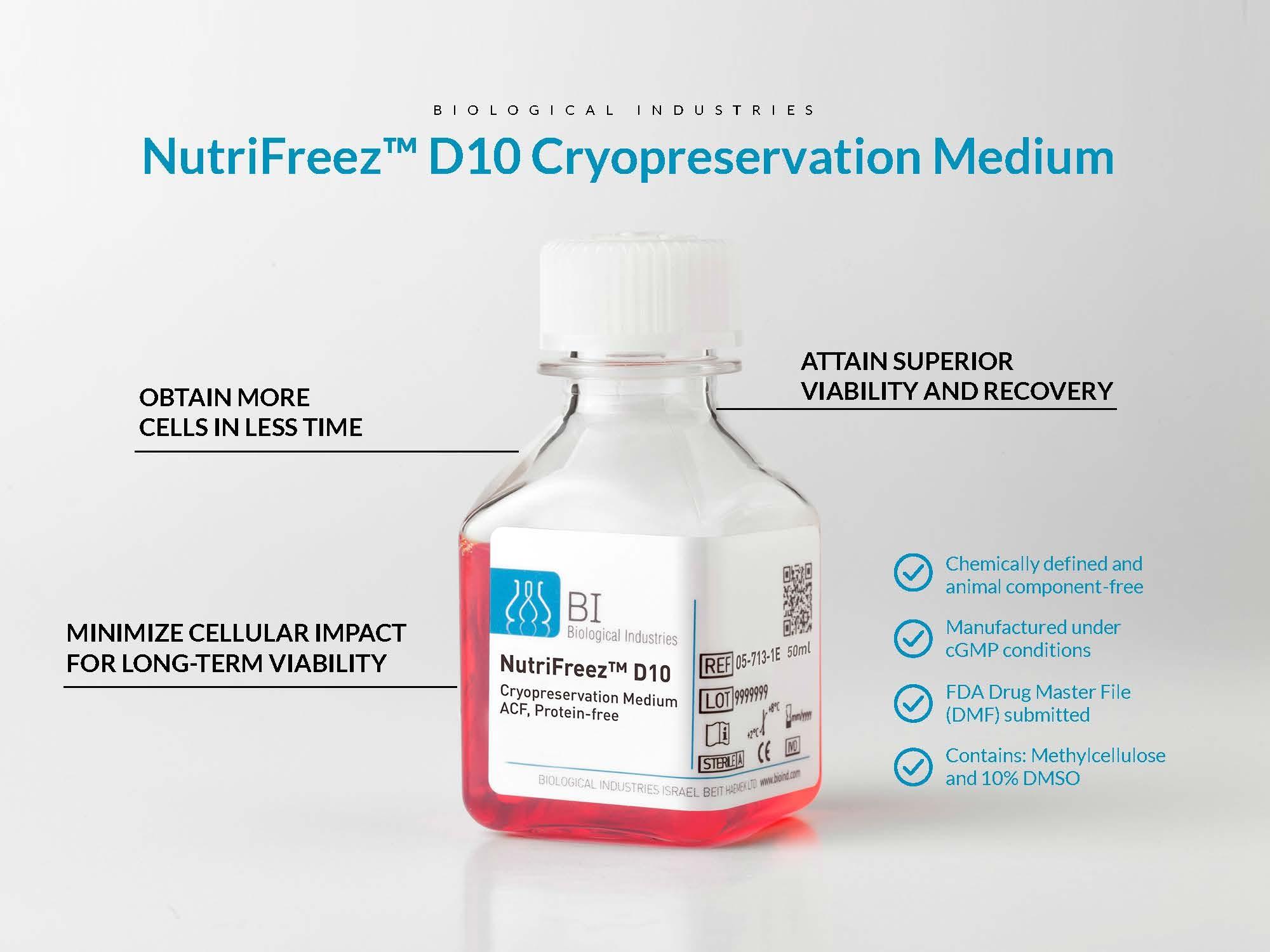 NutriFreez D10 Cryopreservation Medium